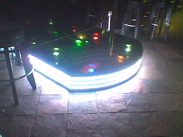 RGB LED strip used in Pole dancing platform